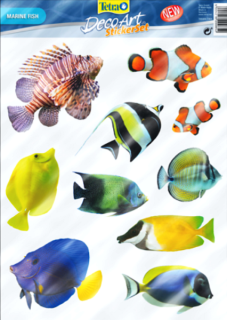 Стикер Tetra DecoArt StickerSet Marine Fish