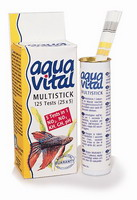 Тест Aquavital Multistick 6 в 1  NO2/NO3/KH/GH/pH/Cl2 полоски